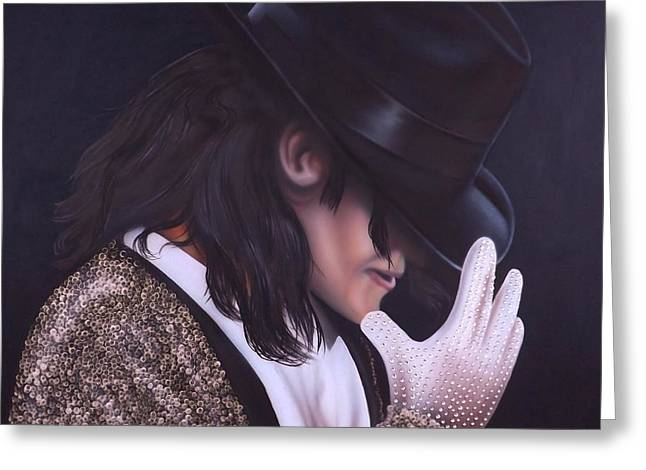 Recently Sold -  - Darren Greeting Cards - The King of Pop Greeting Card by Darren Robinson