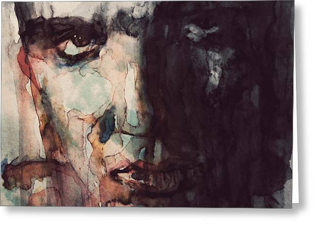 Elvis Icon Greeting Cards - The King Greeting Card by Paul Lovering