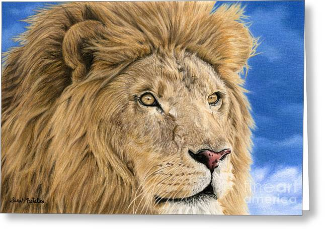 Storm Clouds Drawings Greeting Cards - The King Greeting Card by Sarah Batalka
