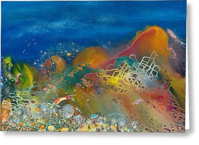 Recently Sold -  - Angel Mermaids Ocean Greeting Cards - The Kingdom of Namena Greeting Card by Lee Pantas