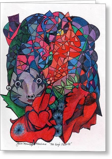 Moran Drawings Greeting Cards - The Kings Favorite Greeting Card by Joane Moran Fogel