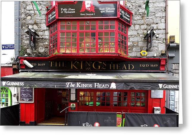 Landscape Framed Prints Greeting Cards - The Kings Head Galway Ireland Greeting Card by Paul Cannon