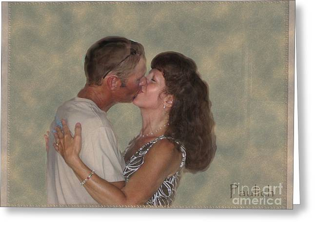 Christine Belt Greeting Cards - The Kiss Greeting Card by Christine Belt