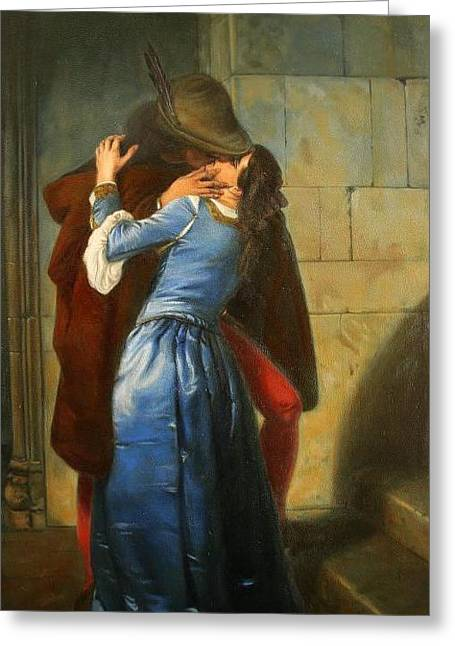 Hayez Greeting Cards - The Kiss Greeting Card by HJ Kennedy