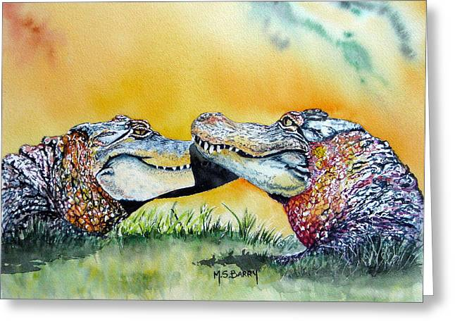 The Kiss Greeting Card by Maria Barry