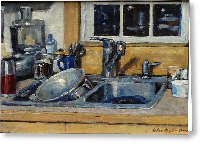 Recently Sold -  - Water Jars Greeting Cards - The Kitchen Sink Greeting Card by Thor Wickstrom