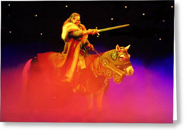 Castle Greeting Cards - The Knight Rider Greeting Card by Sheela Ajith