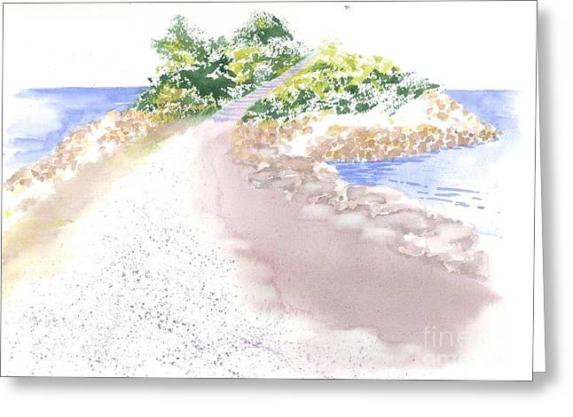 The Knob In Falmouth Greeting Card by Joseph Gallant