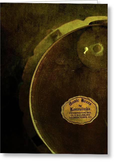 Behind The Music Greeting Cards - The Konvalinka Music Box Greeting Card by Rebecca Sherman