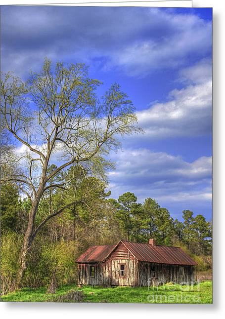 Tin Roof Greeting Cards - The Kudzu House Greeting Card by Reid Callaway