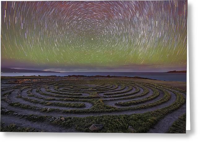 The Labyrinth And The Universe Greeting Card by Todd Kawasaki