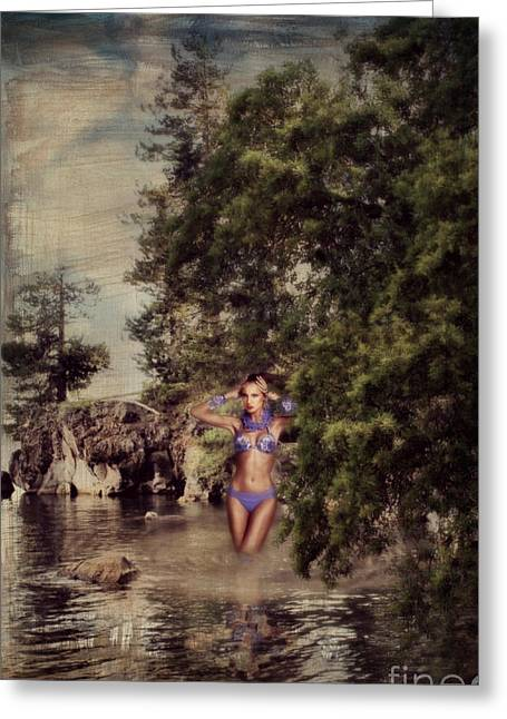 Artist Photographs Greeting Cards - The Lady At The Lake... Greeting Card by Lolita Ronalds
