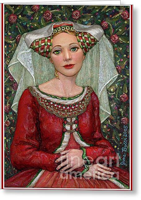 Occupy Beijing Greeting Cards - The Lady Mae   Bas Relief Miniature Greeting Card by Jane Bucci