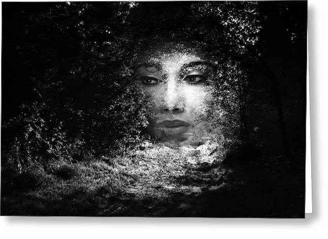 Country Lanes Digital Greeting Cards - The Lady Of The Forest Greeting Card by Flashbac60
