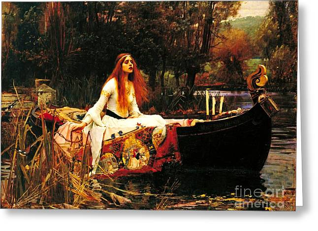 The Lady Of The Shalot Greeting Card by Pg Reproductions