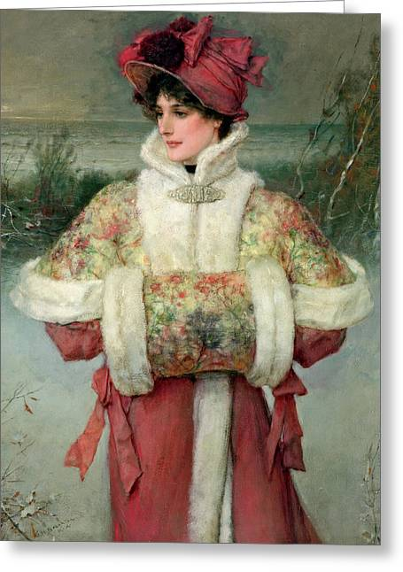 The Lady Of The Snows Greeting Card by George Henry Boughton