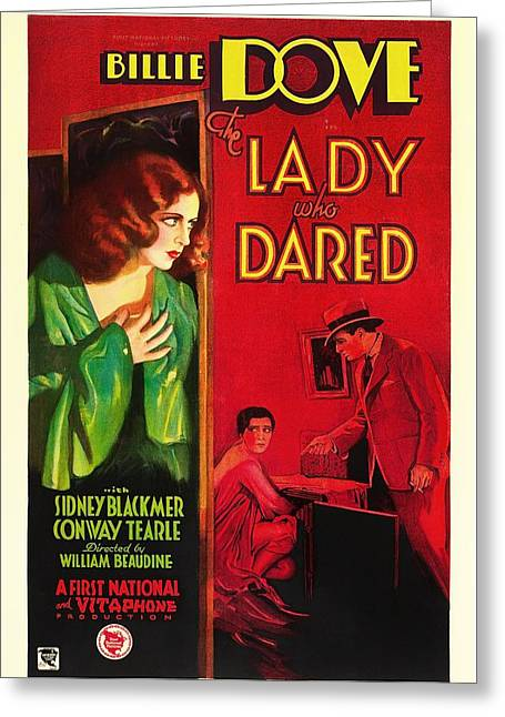 Theater Greeting Cards - The Lady Who Dared 1931 Greeting Card by Mountain Dreams