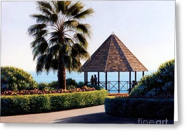 Heisler Park Greeting Cards - The Laguna Gazebo Greeting Card by Frank Dalton