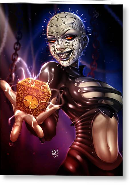 Pinhead Greeting Cards - The Lament Configuration Greeting Card by Pete Tapang