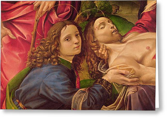Baptism Greeting Cards - The Lamentation of Christ Greeting Card by Capponi