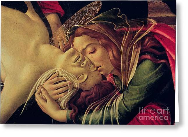 1510 Paintings Greeting Cards - The Lamentation of Christ Greeting Card by Sandro Botticelli