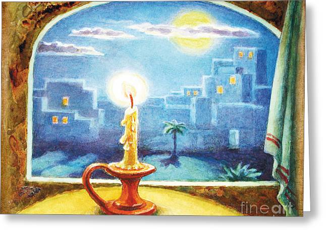 Parable Greeting Cards - The Lamp Greeting Card by Lilia Varetsa