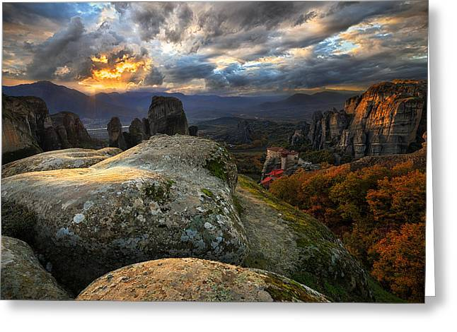 Greece Photographs Greeting Cards - The Land Of Wonders Greeting Card by Cristian Kirshbom
