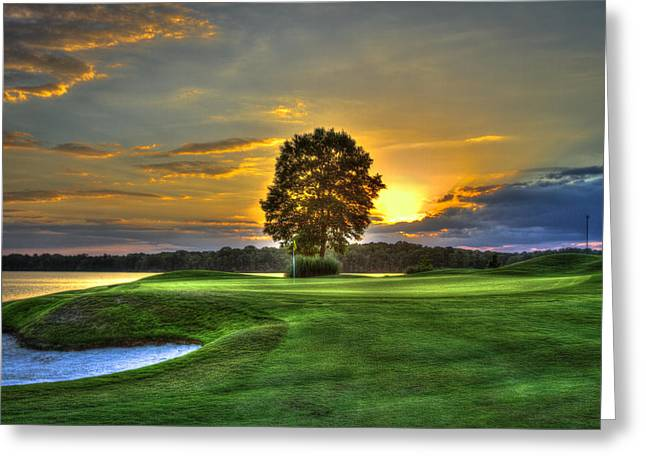 The Tiger Greeting Cards - The Landing Golf Course Reynolds Plantation Greeting Card by Reid Callaway