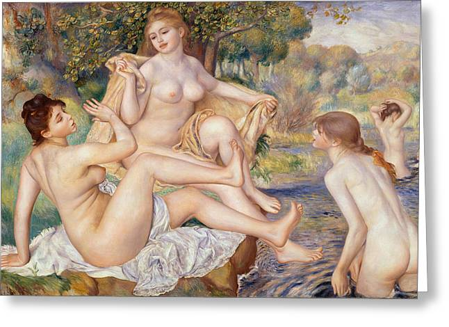 Renoir Greeting Cards - The Large Bathers Greeting Card by Auguste Renoir