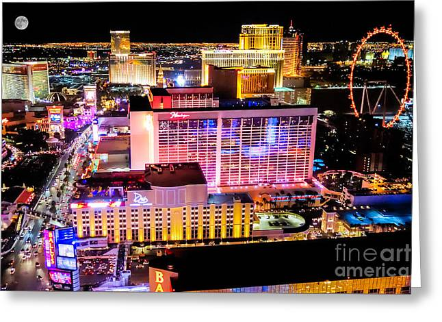The Las Vegas Strip North Greeting Card by Anthony Sacco