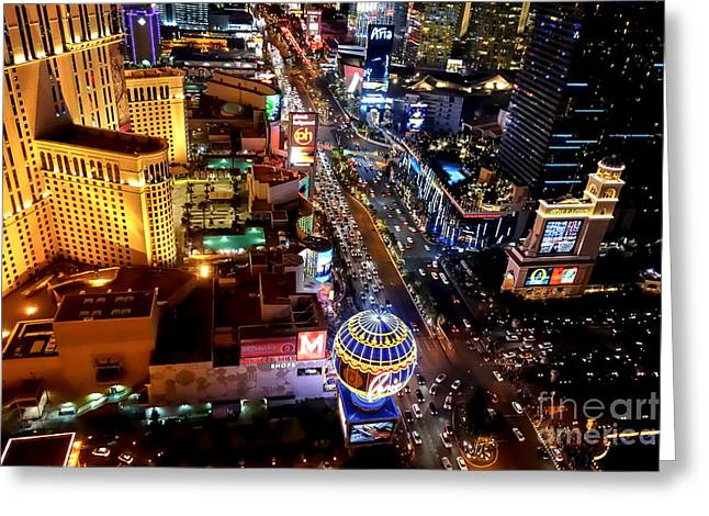 The Las Vegas Strip South Greeting Card by Anthony Sacco