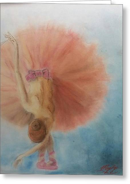 Ballet Dancers Greeting Cards - The Last Call Greeting Card by Mary Lynn Smith
