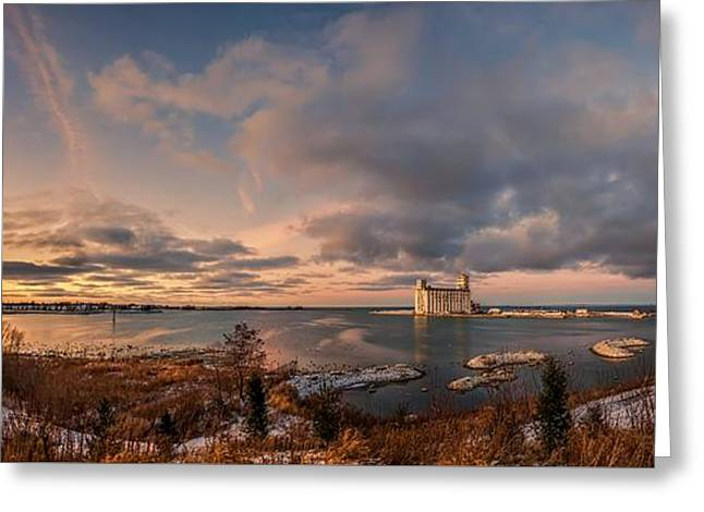 Warm Tones Greeting Cards - The last ice on the bay Greeting Card by Jeff S PhotoArt