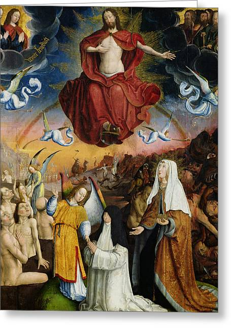 The Last Judgment Greeting Card by Jean the Elder Bellegambe