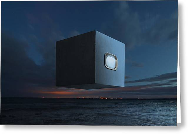 Surreal Landscape Digital Art Greeting Cards - The Last Known Photograph of God v2 Greeting Card by Michal Karcz
