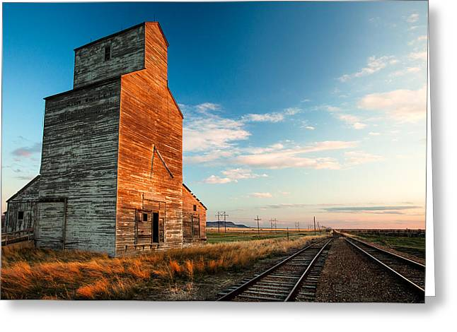 The Last Light At Laredo Greeting Card by Todd Klassy
