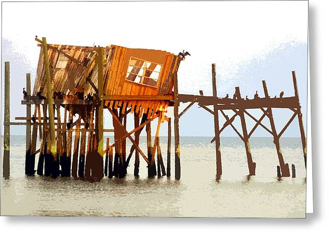 The Last Of Old Cedar Key Greeting Card by David Lee Thompson