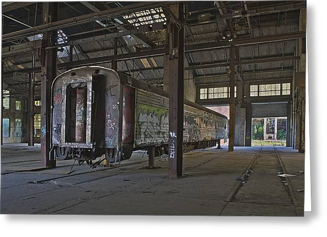 Greeting Cards - The Last Pullman Car Greeting Card by Robert Myers