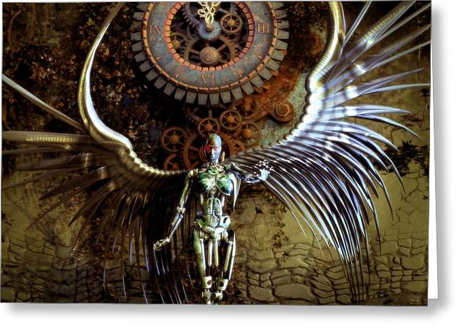 Iron Greeting Cards - The Last Shadow Of Time II. Greeting Card by Gabriel Forgottenangel