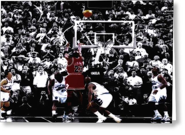Airness Greeting Cards - The Last Shot 5 Greeting Card by Brian Reaves