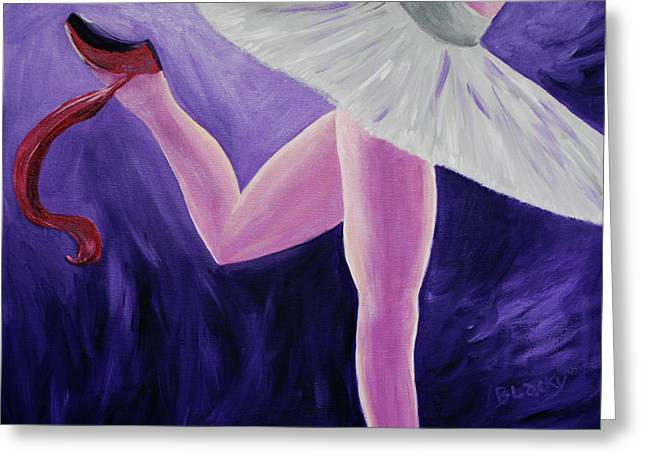 Ballet Dancers Greeting Cards - The Last Slipper Greeting Card by Donna Blackhall