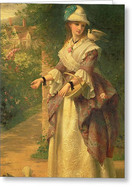 British Portraits Greeting Cards - The Last Summer Days Greeting Card by Thomas Brooks