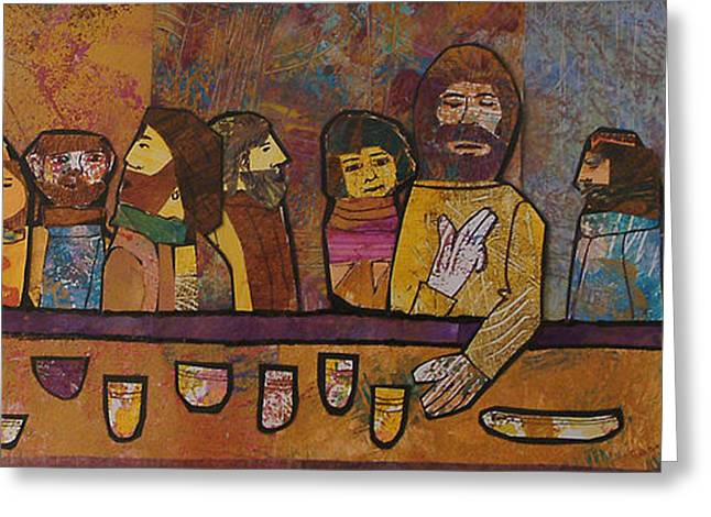 Last Supper Mixed Media Greeting Cards - The Last Supper 1 Greeting Card by Carol Cole