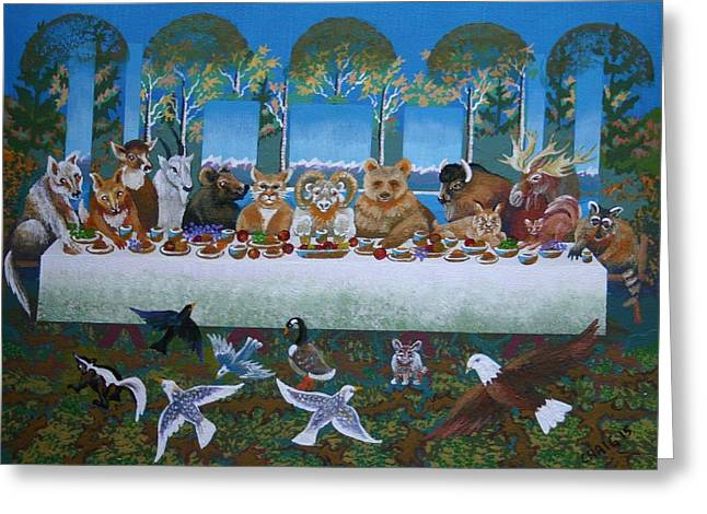 Last Supper Greeting Cards - The Last Supper Greeting Card by Bob Craig