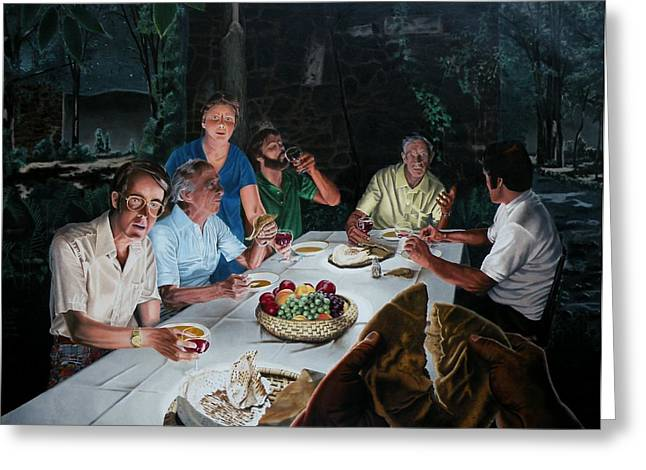 Last Supper Greeting Cards - The Last Supper Greeting Card by Dave Martsolf