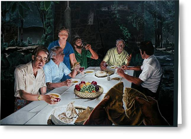 Testament Greeting Cards - The Last Supper Greeting Card by Dave Martsolf