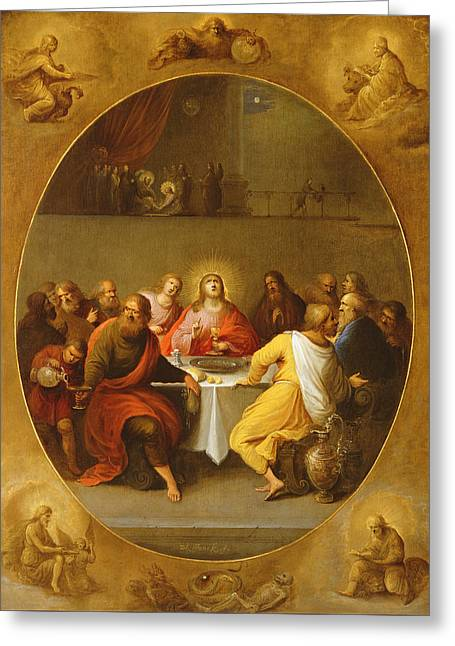 Table Wine Greeting Cards - The Last Supper Greeting Card by Frans Francken
