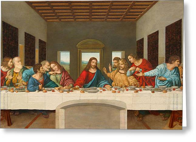 Last Supper Greeting Cards - The Last Supper Greeting Card by Giovanni Rapiti