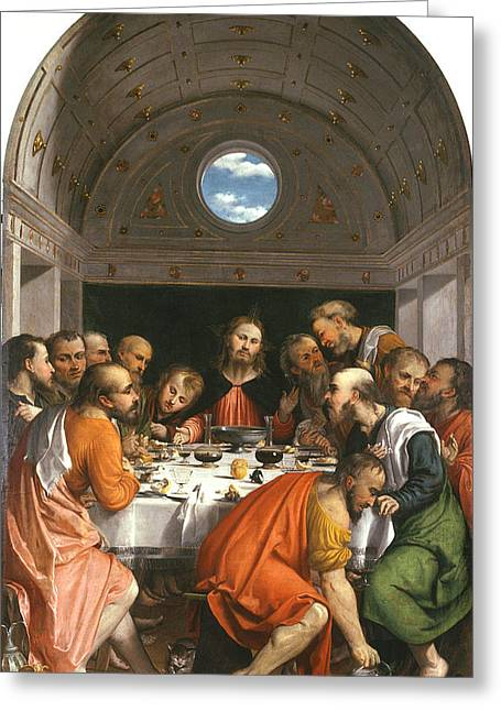 Last Supper Greeting Cards - The Last Supper Greeting Card by Celestial Images