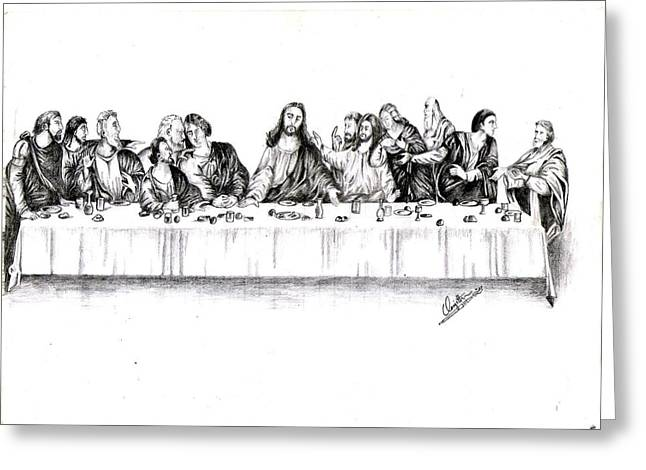 Last Supper Greeting Cards - The Last Supper Greeting Card by Ranjith Kp